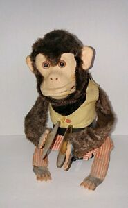 VINTAGE CLAPPING MONKEY - battery operated JOLLY CHIMP toy