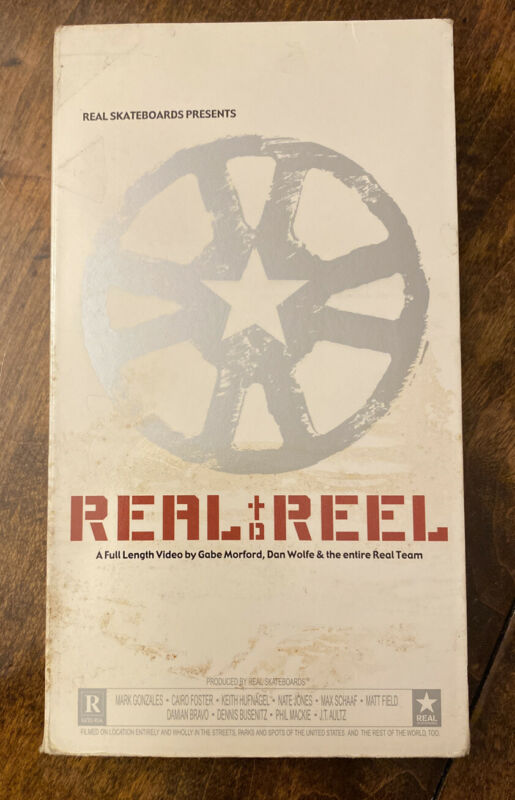 Real To Reel Skate Video Rare VHS Real Skateboards