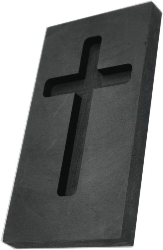 Cross Graphite Casting Ingot Mold Metal Refining Scrap Gold Silver Cross Mold