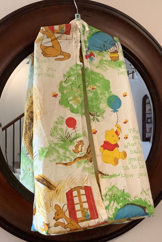 Vintage Sears Winnie The Pooh Diaper Stacker Disney Balloons Hundred Acre Woods