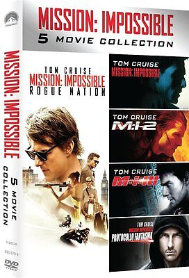 Mission  Impossible  Complete Tom Cruise Movie Series 1 5 Boxed Dvd Set New