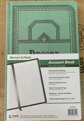 Boorum Pease 66-150-r Record Account Book Record Ruling Lot Of 2