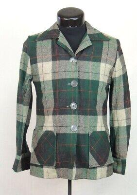 1940s Men's Shirts, Sweaters, Vests VTG Slick Shirt Vic Gene Virgin Wool M Rockabilly Hipster Plaid Button Up 1940's $51.99 AT vintagedancer.com