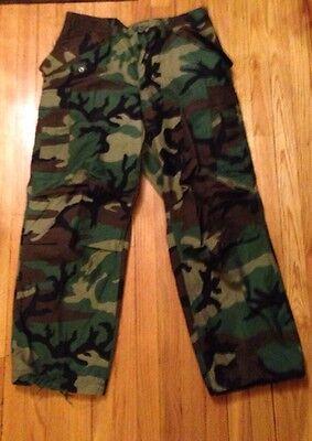 US Military BDU M-65 Woodland Field Pants Small/Reg NWOT