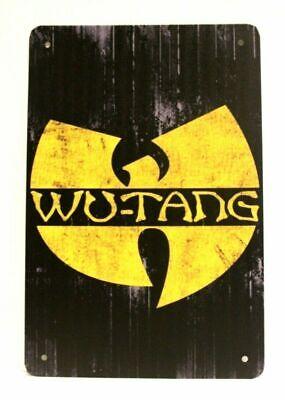 Wu Tang Clan Tin Sign Man Cave Poster Rustic Vintage Advertising Style Rap Music
