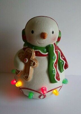 Hallmark Musical Christmas Snowman Light Up Gumdrops Gingerbread Plays Music