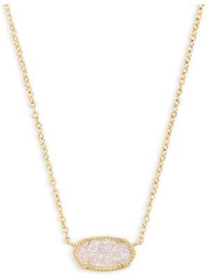 Kendra Scott Elisa gold pendant necklace Iridescent Drusy