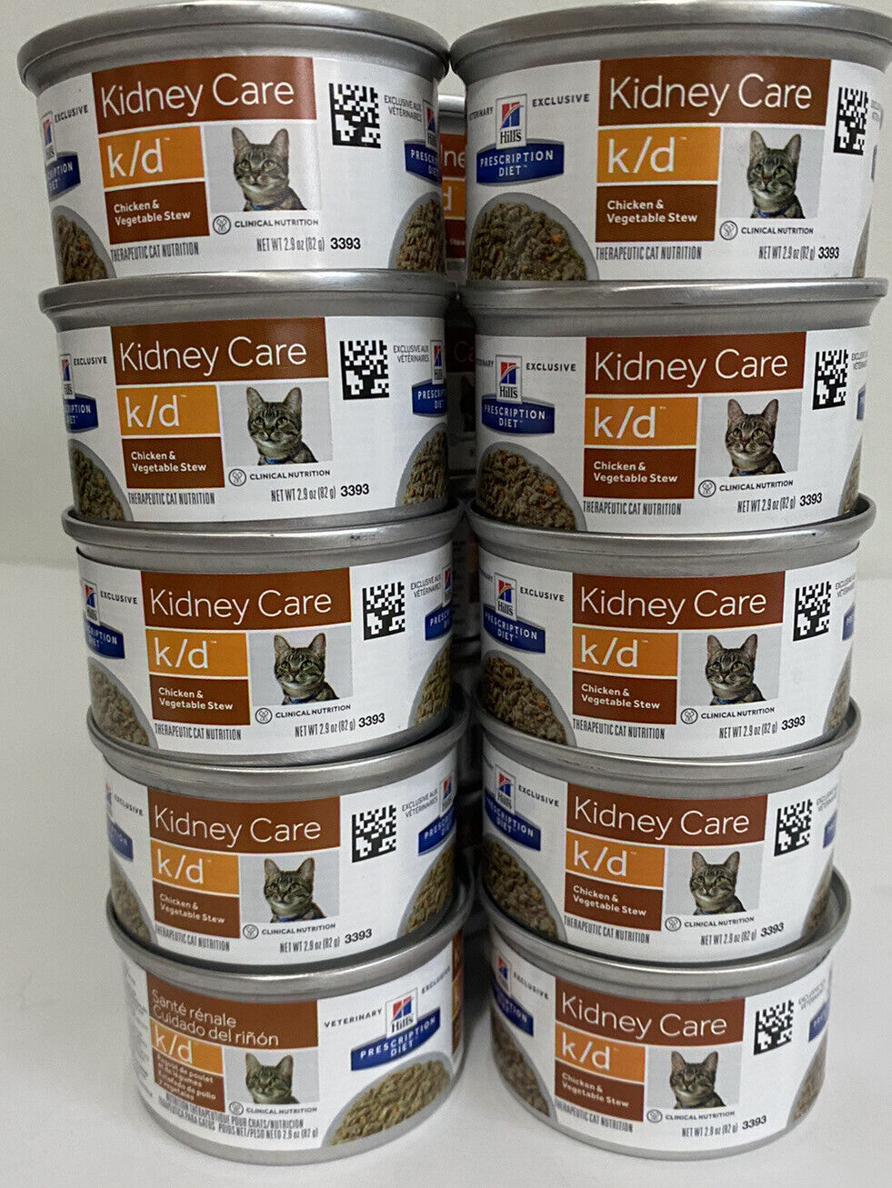Hill s Feline K/d Kidney Care Chicken Vegetable Stew 2.9 Ounce Can X 24 - $49.99