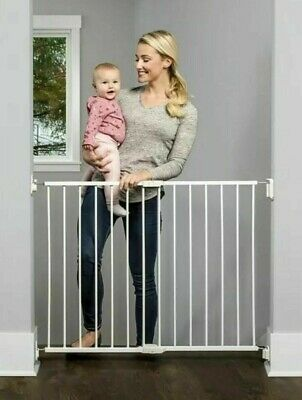 PREMIUM Extra Wide Walk Thru Safety Gate Pet Dog Toddler Child Stairs Through