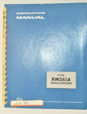 Vintage Original Tektronix Rm561a Oscilloscope Instruction Manual