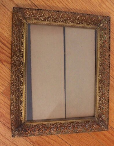 Lot of 3 Vintage Brass Photo Frames