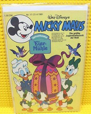 Walt Disney® Micky Maus Nr 17 von 1981 mit Schnipp und Beilage