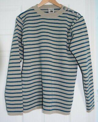New! S.N.S. HERNING Stripe' Slim Fit Virgin Wool Crewneck Sweater size M