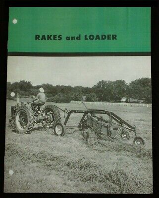 Ih Farmall Mccormick Hay Rake Loaders No. 5 4-bar Model R Sales Brochure 1953