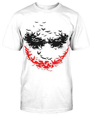 Shirt Horror Fun Clown Joker Gangster Bösewicht Bat Smile (Bösewicht)