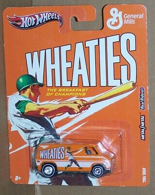 HOT WHEELS POP CULTURE WHEATIES 1970'S VAN WITH REAL RIDERS