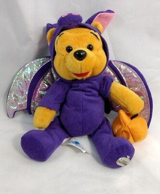 Disneyland Halloween Winnie the Pooh Bean Bag Plush Bat Costume 2002 8