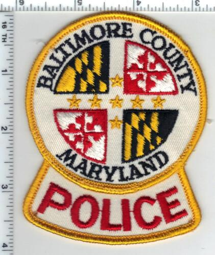 Baltimore County Police (Maryland) Uniform Take-Off Patch Early 1980