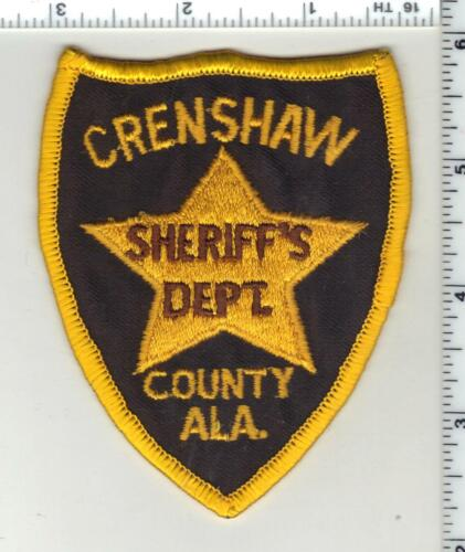 Crenshaw County Sheriff (Alabama) 1st Issue Shoulder Patch