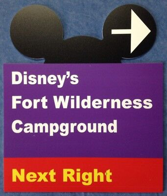 "Walt Disney World Road Sign Inspired 10""x12""Sign Fort Wilderness  - Ears CutOut"