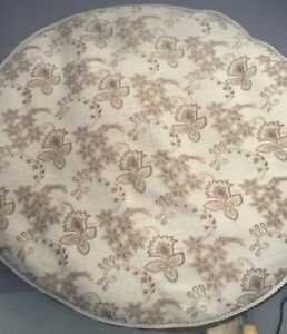 Cream and brown colour dog bed