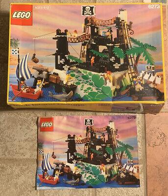 Lego Pirates Rock Island Refuge 6273 BOX ONLY! (Box & Tray) 1991 W/ Manual