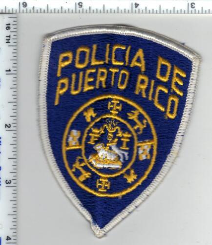 Policia de Puerto Rico Proteccion Uniform Take-Off White Border Smaller Patch