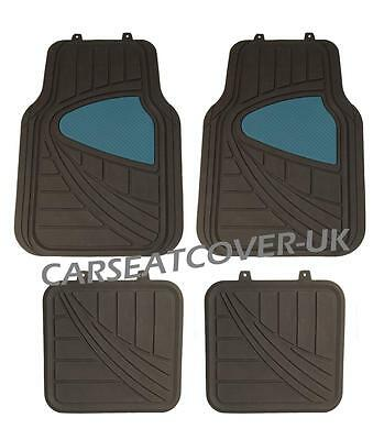 Citroen C2   BlackBlue HEAVY DUTY All WEATHER Front Rear RUBBER CAR Floor MATS