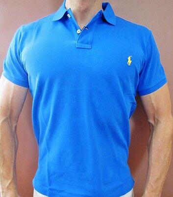 New Men's Polo Ralph Lauren Custom Fit Polo Shirt Size Royal Blue Medium