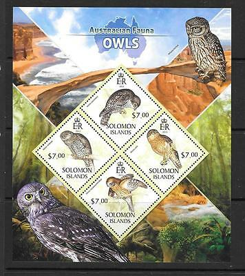 SOLOMON ISLANDS 2013 OWLS (1) MNH