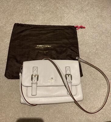 Kate Spade New York Leather Cream Messenger Bag - Very Good Condition