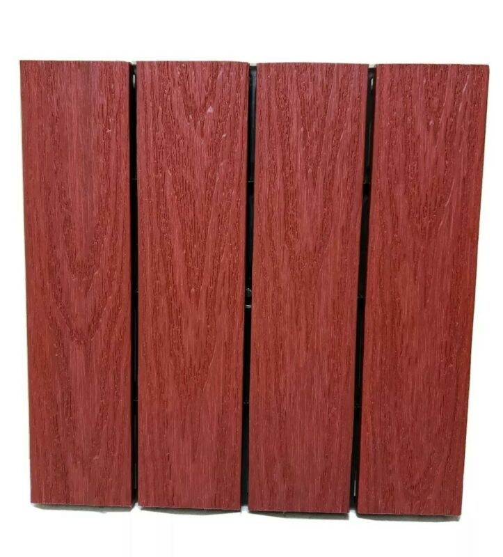 Ultra shield Naturale 1ft x 1ft Outdoor Composite Deck Tile 10 Pack, Swedish Red