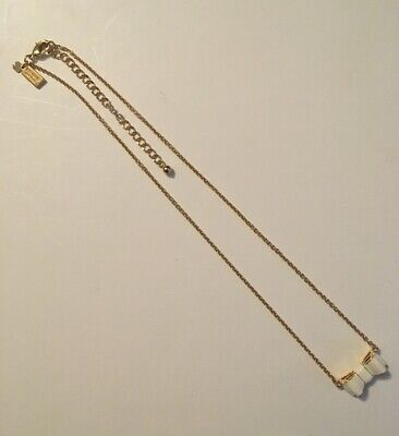Kate Spade Take A Bow White Pendant Necklace