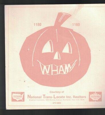 Jack O'Lantern WHAM 1180 Rochester NY Window Display 1970s - Halloween Window Displays New York