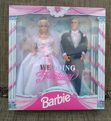 1993 Wedding Fantasy Barbie Special Limited Edition: Ken and Blonde Barbie Bride