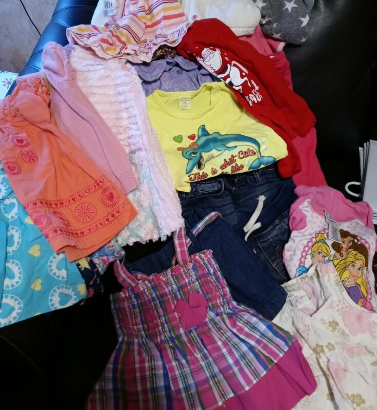 Huge Lot Of 2t Girls Mixed(23pc. Lot) Of Clothes