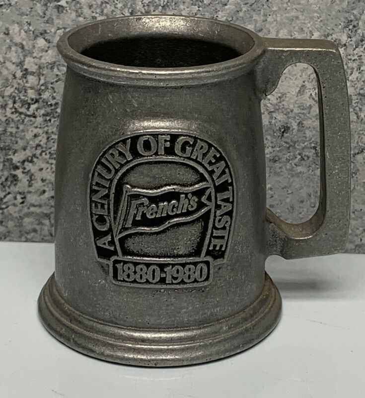 A CENTURY OF Great Taste French's Mustard Advertising PEWTER MUG 4 6/8""