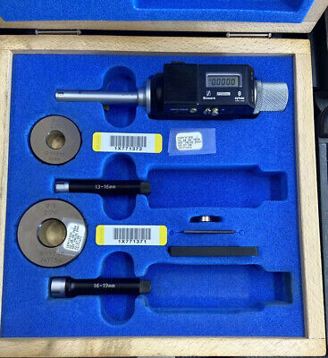 Fowler Bower .390-748 10-19mm Digital Bore Hole Gage Wrings Excellent Shape