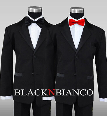 Boy Formal Wedding Ring Bear Tuxedo Dress Suit with Red Bow Tie ](Ring Bear Suits)