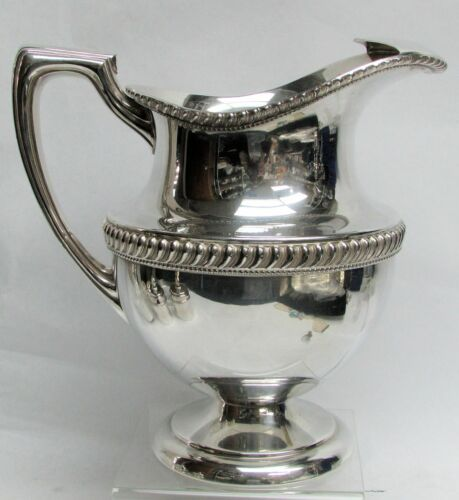 """CLASSIC ANTIQUE PLATE 9"""" WATER PITCHER"""