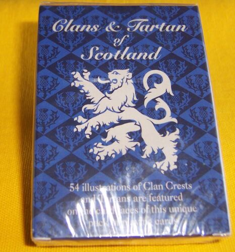 Collectible Deck Clans & Tartan of Scotland Playing Cards NEW Sealed 1997 EU