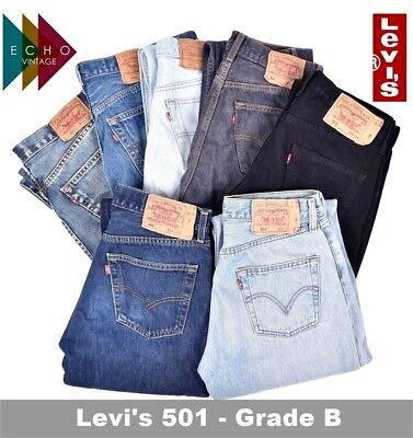 GRADE 'B' VINTAGE LEVIS 501 MENS JEANS DENIM W30 W32 W34 W36 W38 W40 LEVI 501s