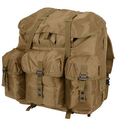 military backpack alice pack coyote large size with aluminum frame rothco - Large Aluminum Frame Bag
