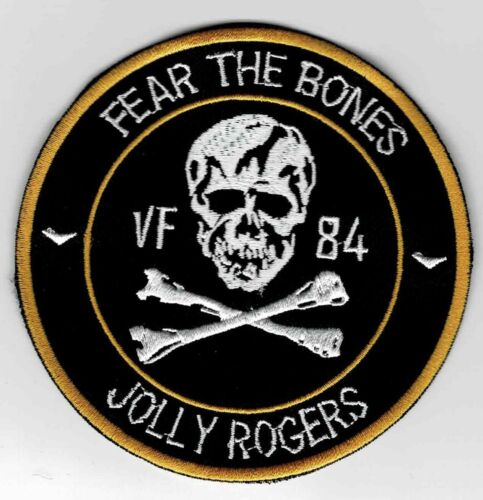 """US Navy VF-84 Jolly Rogers """"Fear The Bones"""" Squadron patch"""