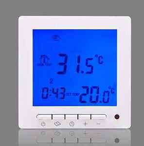 Underfloor heating programmable digital room thermostat ebay for Termostato digital calefaccion programable