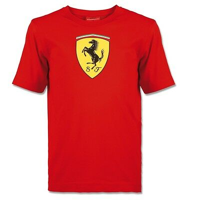 Ferrari BIG SCUDETTO T-Shirt Red Mens XS S M L XL XXL        RRP £47
