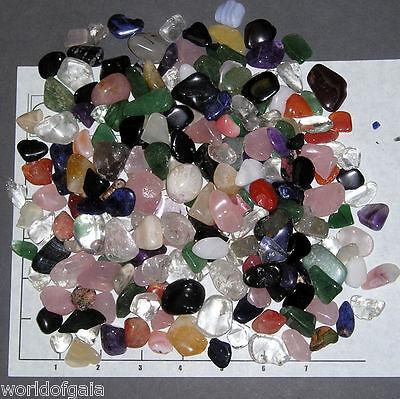 TUMBLED STONES Chipped pieces 2 lbs bulk agates, quartz, jasper, more SAVE 20%