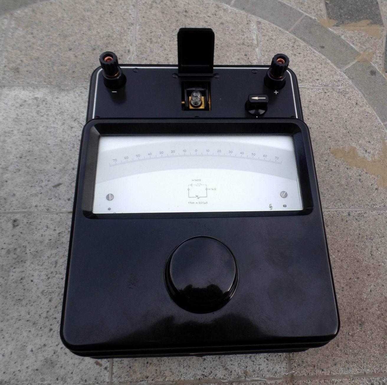 Spiegel - Galvanometer von Siemens