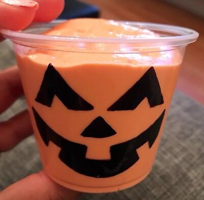 halloween pumpkin fluffy Slime, 4oz plus - Halloween Slime