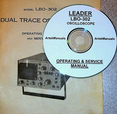 Leader Lbo-302 Oscilloscope Operating Service Manual